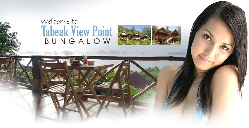 Tabeak View Point Bungalowat Yao Noi, Phang Nga at Thailand